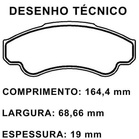 Imagem de Jogo de Pastilha de Freio Dianteira Fiat Ducato Cargo Aro 16 2003 a 2016 Ecopads