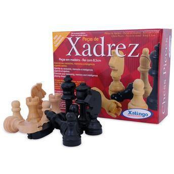 Imagem de Jogo de Peças de Xadrez em Madeira Xalingo