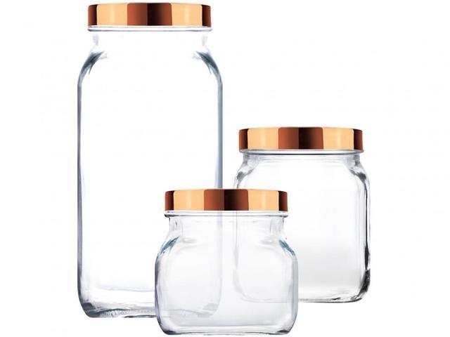 Imagem de Jogo de Potes de Vidro Ruvolo Glass Company