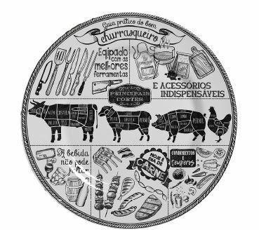 Imagem de Jogo de pratos churrasco raso com 6 peças - primeira linha