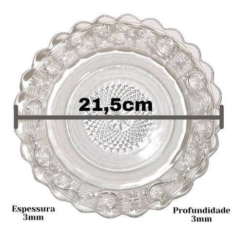 Imagem de Jogo De Pratos Fundos Egípcio 6 Peças Estrela Transparente