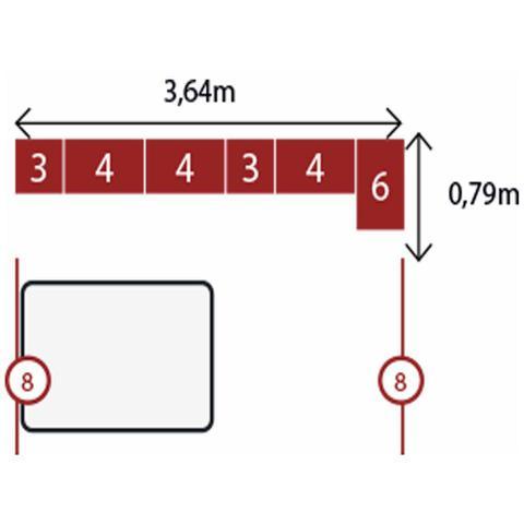 Imagem de Jogo de Quarto Casal Modulado Modena CP9 Nogal - Demóbile