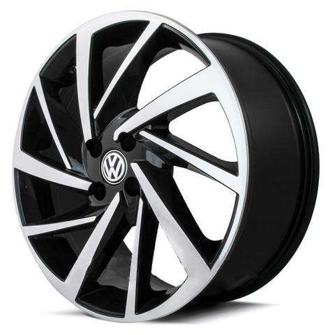Imagem de Jogo De Rodas New Polo Aro 20 x 7,5 4x100 ET40 Volkswagen R93 Preto Diamantado