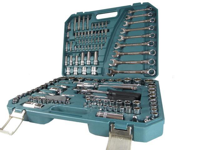 Imagem de Jogo de Soquetes 136 Peças Oficina Gold com Chaves Combinadas com Catraca TITANIUM-5516