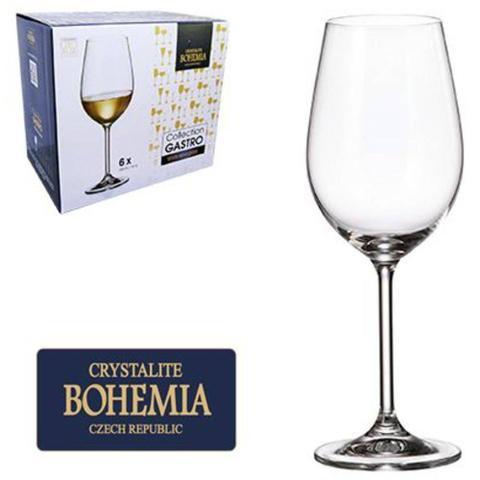 Imagem de Jogo De Taca De Cristal Para Vinho Branco Com 6 Unidades Gastro Bohemia 350ml