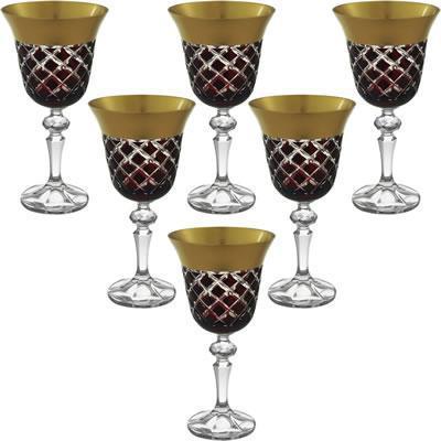 Imagem de Jogo De Taças De Cristal Para Vinho Noemi