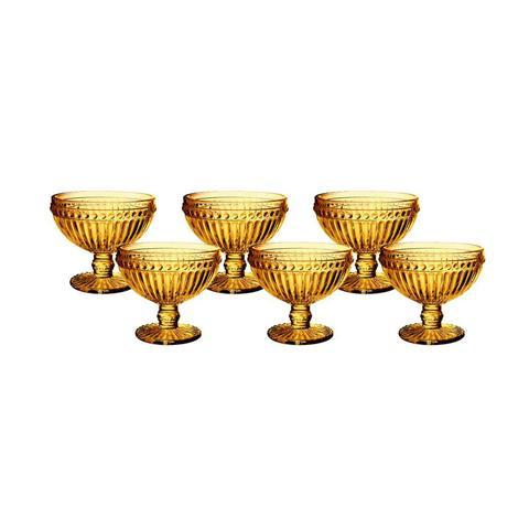 Imagem de Jogo de Taças de Sobremesa Empire Ambar 300 ml com 6 Peças Lyor