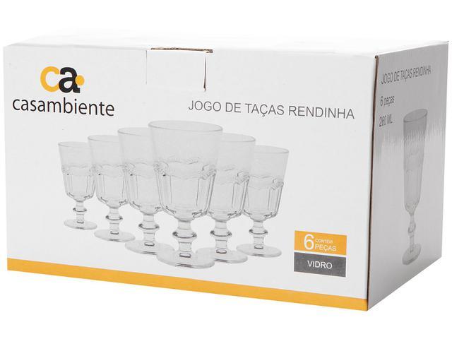 Imagem de Jogo de Taças de Vidro 6 Peças 260ml Casambiente