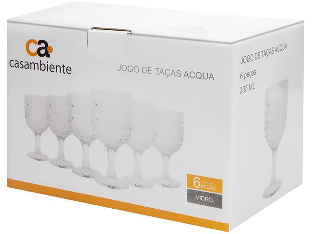Imagem de Jogo de Taças de Vidro 6 Peças 265ml Casambiente