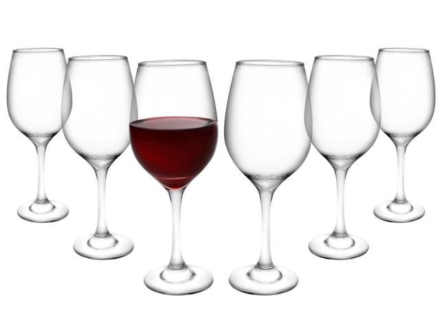 Imagem de Jogo de Taças para Vinho Vidro 385ml 6 Peças