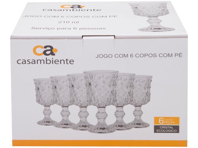 Imagem de Jogo de Taças Vidro 210ml 6 Peças Casambiente