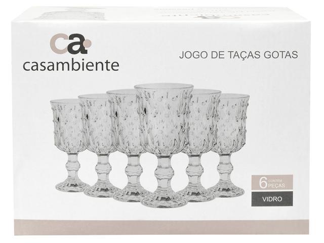 Imagem de Jogo de Taças Vidro 6 Peças 210ml Casambiente