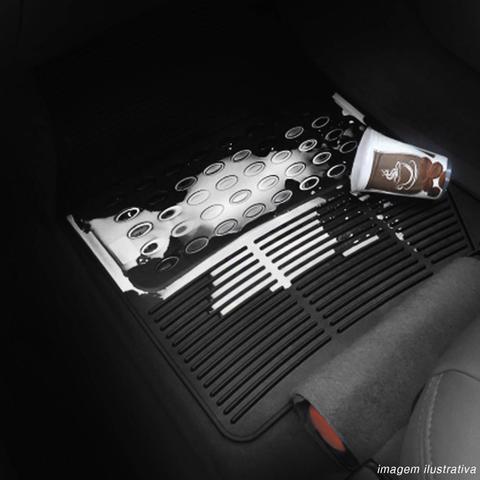 Imagem de Jogo de Tapete Borracha PVC Automotivo Preto Textura Antiderrapante Sem Odor Universal Modelo G
