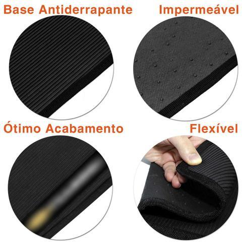 Imagem de Jogo de Tapete Borracha PVC Corsa Classic 03 a 16 Preto Bordado Carpete Antiderrapante Impermeável