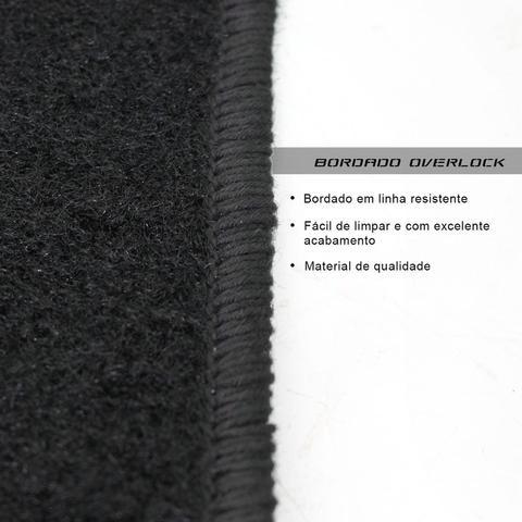 Imagem de Jogo de Tapete Carpete Celta 2000 a 2015 Shutt Preto Bordado 5 Peças