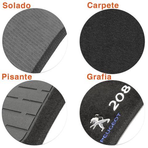 Imagem de Jogo de Tapetes Carpete Peugeot 208 2011 a 2014 Preto Bordado 5 Peças