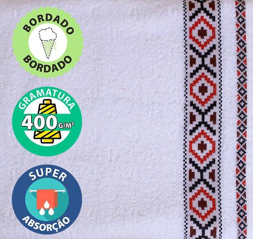 Imagem de Jogo de Toalha 2 pçs Banho e Rosto Algodão Felpuda Dohler Jacquard Premium