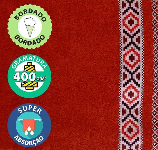 Imagem de Jogo de Toalha 4 pçs Banho e Rosto Algodão Felpuda Dohler Jacquard Premium