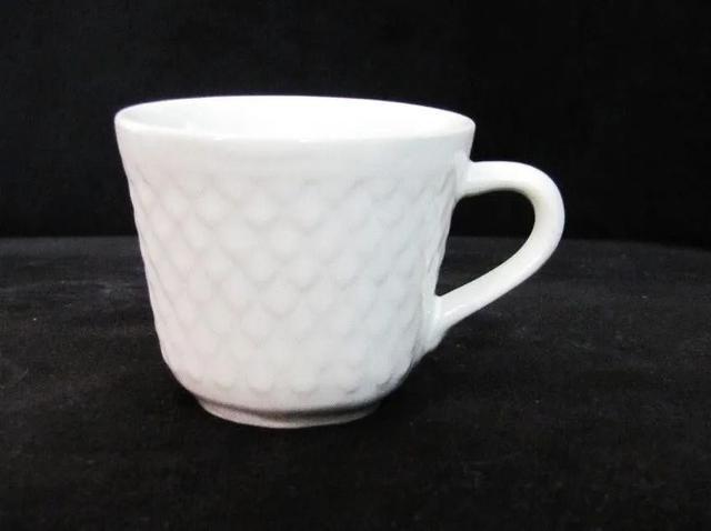 Imagem de Jogo De Xicara Para Cafe De Porcelana Branca 6 Pecas 65ml