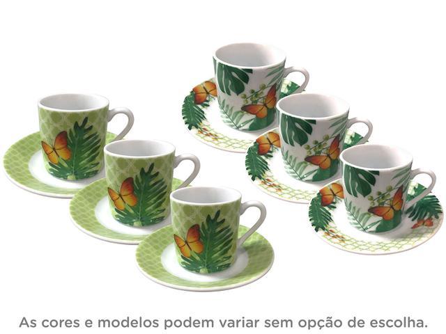 Imagem de Jogo de Xícaras de Café Porcelana 6 Peças
