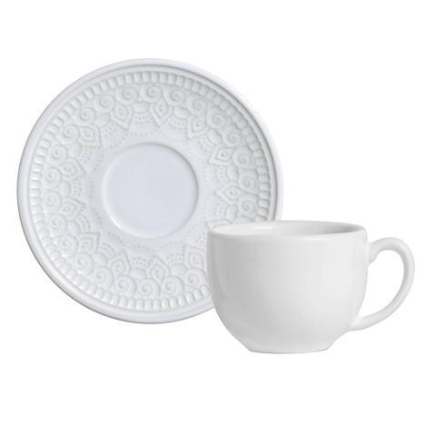 Imagem de Jogo de Xícaras de Chá Branco Agra 6 Unidades