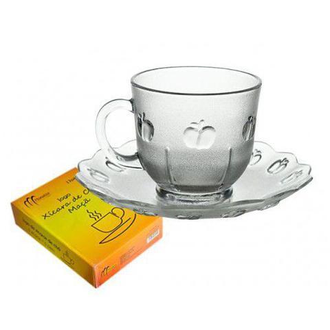 Imagem de Jogo de xícaras de chá maca com pires (6 pcs) 206 ml