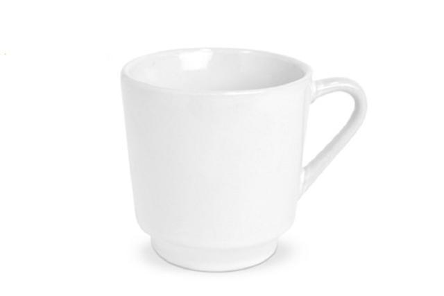 Imagem de Jogo de Xícaras de Porcelana Branca Lisa 200ml com 6 Peças - Ref. 005