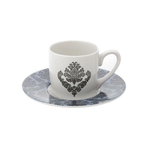 Imagem de Jogo de xícaras para café em porcelana Lyor Barroque 6 peças 90ml