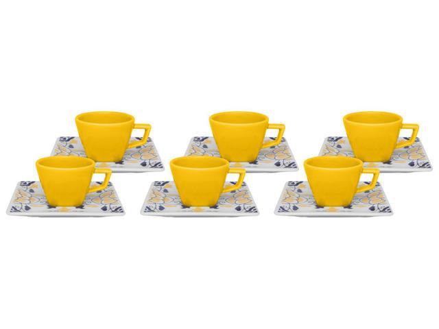 Imagem de Jogo de Xícaras para Café Porcelana 12 Peças