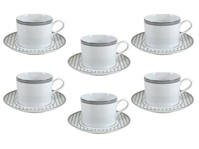 Imagem de Jogo de Xícaras para Chá Porcelana 12 Peças