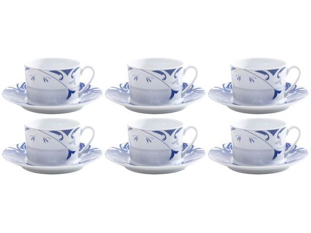 Imagem de Jogo de Xícaras para Chá Porcelana 6 Peças Wolff