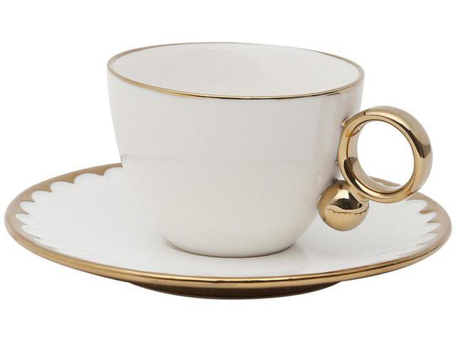 Imagem de Jogo de Xícaras para Chá Porcelana 6 Peças