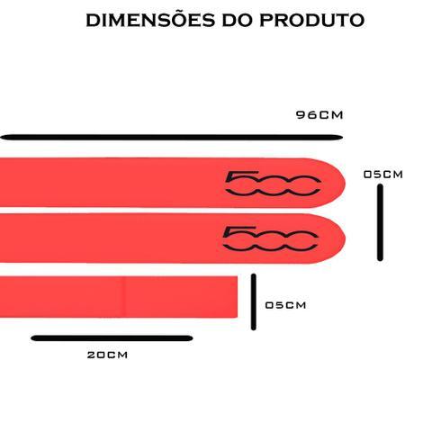 Imagem de Jogo Friso Lateral Fiat 500 Vermelho Brilhante