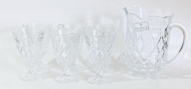 Imagem de Jogo jarra e 6 taças de vidro Angélica
