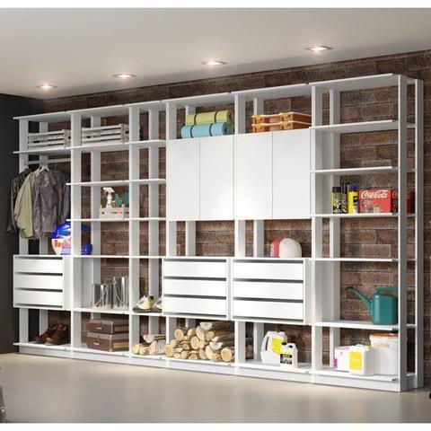 Imagem de Jogo Modulado para Varanda Garagem Clothes Branco - BE Mobiliário