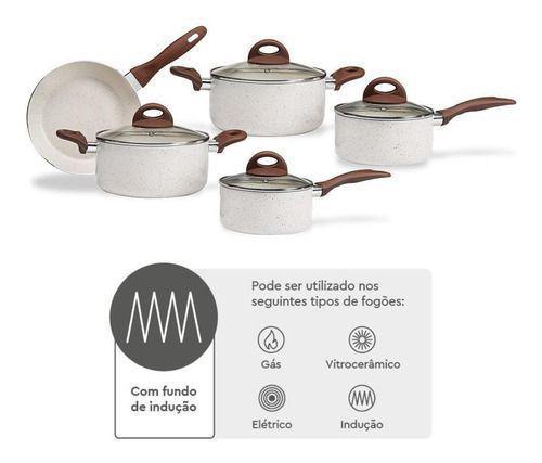 Imagem de Jogo Panelas 5pçs Indução Ceramic Life Granada 4774 Brinox