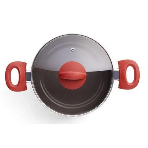 Imagem de Jogo Panelas Aluminio Ceramic Life Optima Vermelho 5 Peças