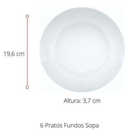 Imagem de Jogo Prato Fundo Sopa Vidro Duralex Astral Nadir Kit 6 Un