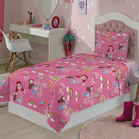 0097539971 Jogo Roupa de Cama Infantil Rainbow Ruby 3 Peças - Lepper - Jogo de ...