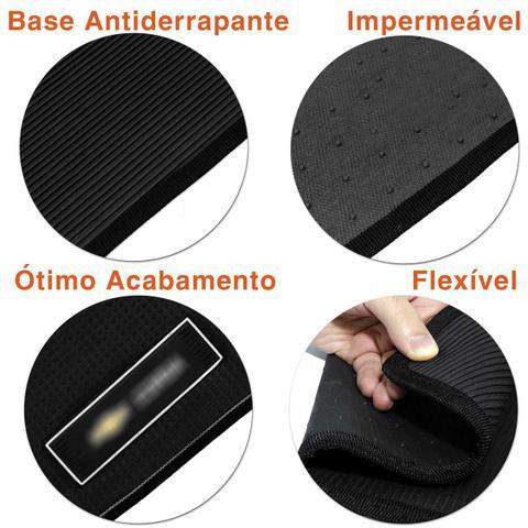 Imagem de Jogo Tapete Borracha PVC Corsa Sedan 1996 a 2002 Preto com Grafia e Emblema Impermeável 5 Peças