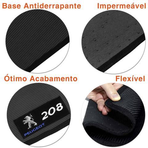 Imagem de Jogo Tapete Borracha PVC Peugeot 208 13 a 18 Preto Bordado Carpete Impermeável 4 Peças