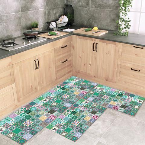 Imagem de Jogo Tapete De Cozinha Mosaique 3 Peças Com Antiderrapante