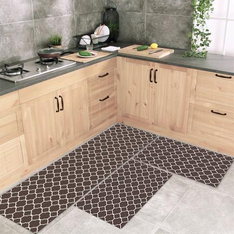 Imagem de Jogo Tapete De Cozinha Silas 3 Peças Com Antiderrapante