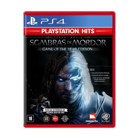 Jogo Terra Média: Sombras de Mordor Game Of Year Edition - Playstation 4 - Warner Bros Interactive Entertainment