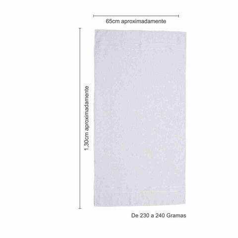 Imagem de Jogo Toalha Banho kit 20 Russia 230g  65x130 Cm branca