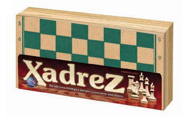 Imagem de Jogo Xadrez Madeira 32 Peças Estimula Raciocínio - 33374