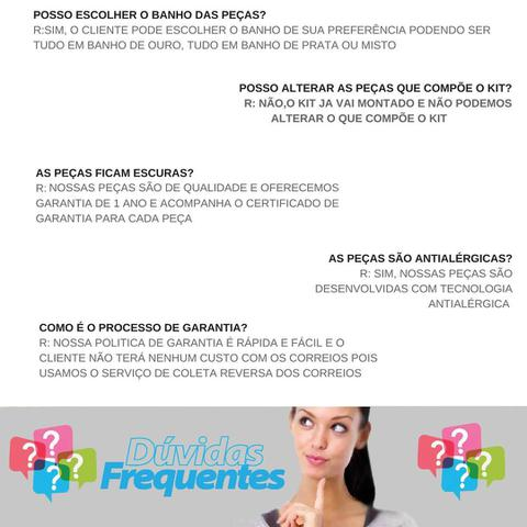 Imagem de Joias Folheadas Kit Contendo 20 Peças Atacado Para Revenda