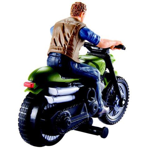 Imagem de Jurassic World Perseguição Jurássica Owen com Moto - Mattel