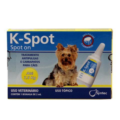 Imagem de K-Spot Antipulgas e Carrapatos Cães até 7,5kg (2,0ml) - Syntec