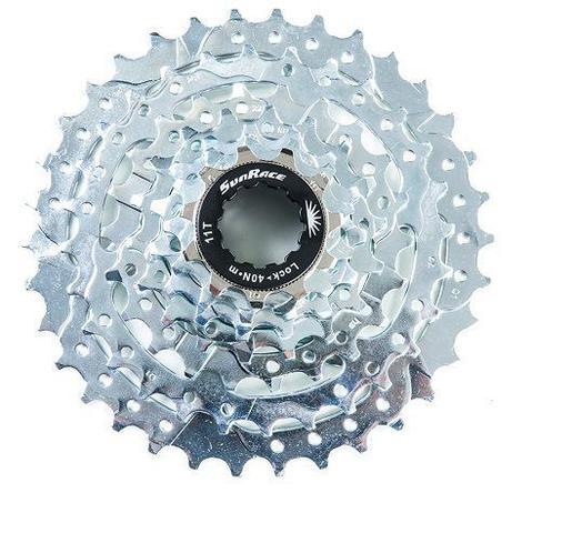 Imagem de K7 Catraca Cassete Bike M40 7v Index 11-34 Cromado Sunrace